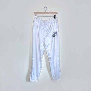 vintage 90's white adidas trefoil lined track pant